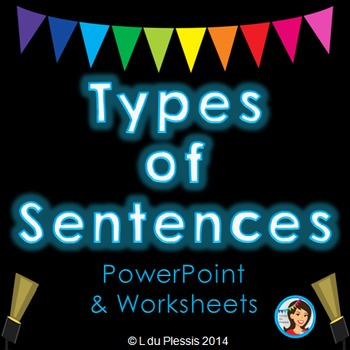 Types of Sentences PowerPoint and Printables