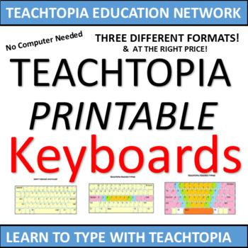 Typing / Keyboarding Practice Keyboards  Printable keyboar