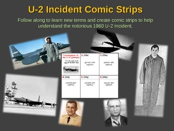 U-2 Incident (Crisis) Comic Strip Activity: visual, fun, e