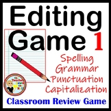 Editing Game - Spelling, Capitalization, Punctuation, & Gr