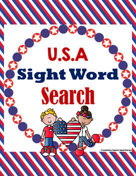 U.S.A. Sight Word Search
