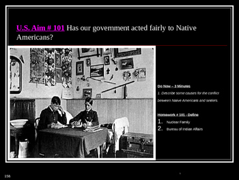 U.S. Aim # 101 Has our government acted fairly to Native A