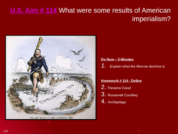 U.S. Aim # 114 What were some results of American imperialism?