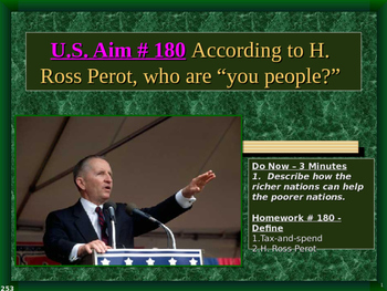 """U.S. Aim # 180 According to H. Ross Perot, who are """"you people?"""""""