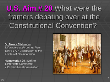 U.S. Aim # 20 Debating at the Constitutional Convention.