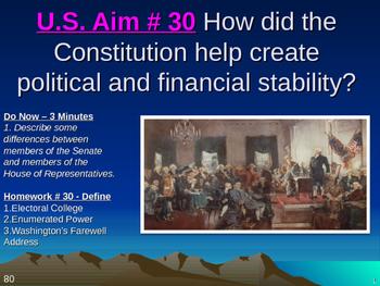 U.S. Aim # 30 How did the Constitution create political an
