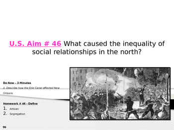 U.S. Aim # 46 What caused the inequality of social relatio