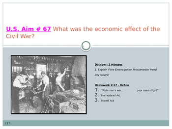 U.S. Aim # 67 What was the economic effect of the Civil War?