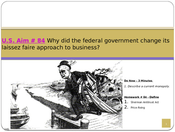 U.S. Aim # 84 Why did the government change to a laissez f