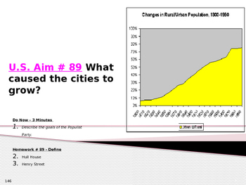 U.S. Aim # 89 What caused the cities to grow?