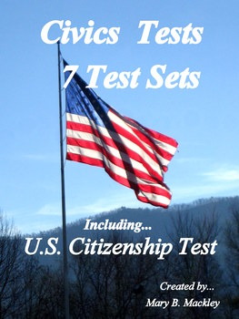 U.S. Citizenship Test included with 7 Civics Test sets