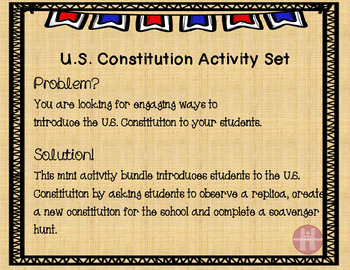 U.S. Constitution activities