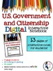 U.S. Government and Citizenship Digital Interactive Notebo