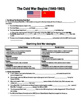 U.S. HISTORY UNIT 12 LESSON 1: The Cold War Begins GUIDED NOTES