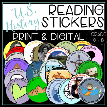 U.S. History Reading Badges for Informational Texts and 40
