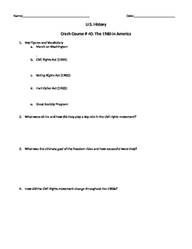 U.S. History Crash Course # 40