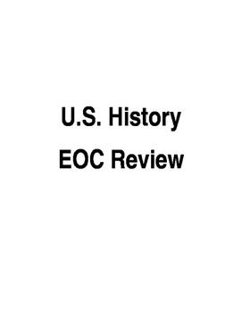 U.S. History EOC Review
