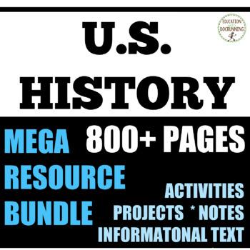 U.S. History Middle School Early America to Civil War Bund