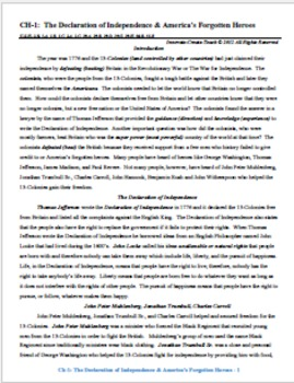 U.S. History STAAR Chapter Bundle Ch-1: The Declaration of