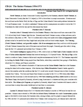 U.S. History STARR Chapter Bundle Ch-24: The Sixties-Vietn