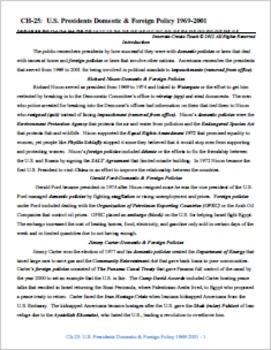U.S. History STARR Chapter Bundle Ch-25: U.S. Presidents D