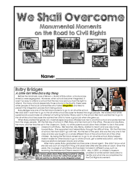 U.S. History - The Civil Rights Movement (Unit Booklet)