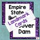 U.S. Landmark iSpy Task Cards in Purple Polka Dots