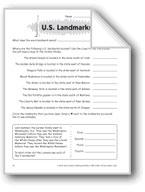 U.S. Landmarks (Thinking Skills)