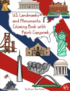 U.S. Landmarks and Monuments Coloring Book