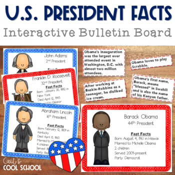 U.S. Presidents Facts Bulletin Board