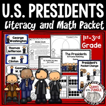 U.S. Presidents Literacy and Math Packet