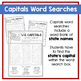 U.S. States & Capitals Word Searches