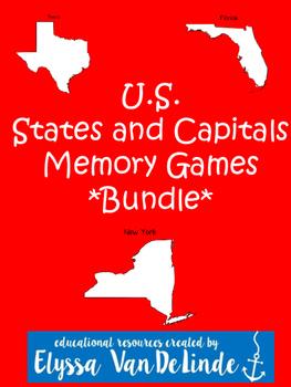 U.S. States and Capitals Memory Games Bundle