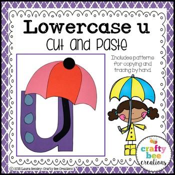 U is for Umbrella Cut and Paste