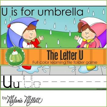 U is for Umbrella File Folder Game