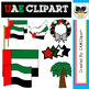 UAE Clipart - Cultural items and Emirate Scribble Kid Characters