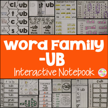 UB Word Family Interactive Notebook