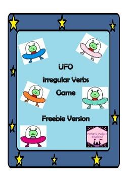 UFO Irregular Verb Grammar Game Freebie Version