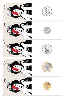 UK Money - Pounds Snap Cards
