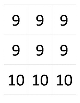 ULTIMATE Number and Symbol Card Set