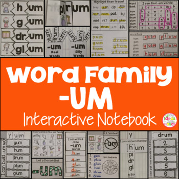UM Word Family Interactive Notebook