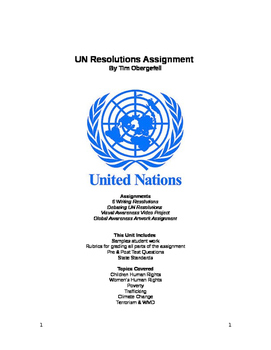 United Nations Resolutions Assignment & Project