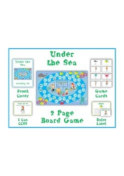UNDER THE SEA - Word Problems Adding & Subtracting - Math