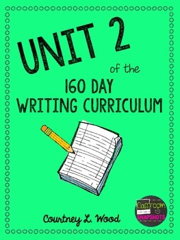 UNIT 2 of the Common Core Aligned Writing Curriculum Bundl