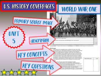UNIT 5: AMERICA IN WORLD WAR ONE - U.S. History coverpage