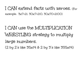 UNIT 5 Everyday Math (Grade 4) I CAN Statements/CCSS Aligned
