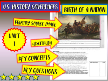 UNIT1: BIRTH OF A NATION - a U.S. History coverpage handou