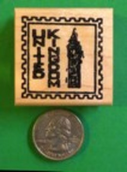 UNITED KINGDOM Country/Passport Rubber Stamp