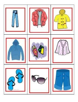 Spanish Game: Clothing/la ropa UNO