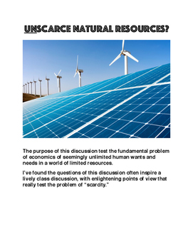 UNSCARCE Natural Resources?